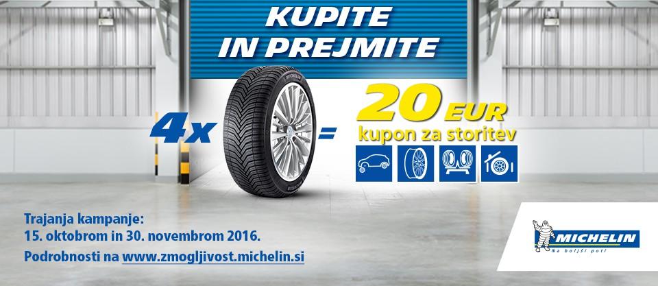 Z Michelinom do kupona za storitve
