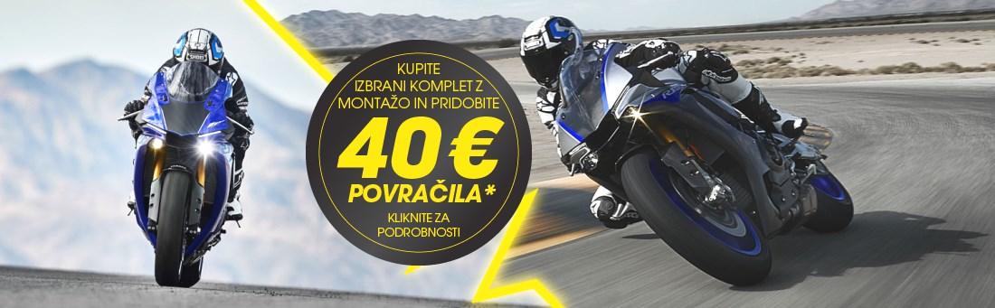 Kupite Dunlop moto pnevmatike in pridobite 40€ povračila