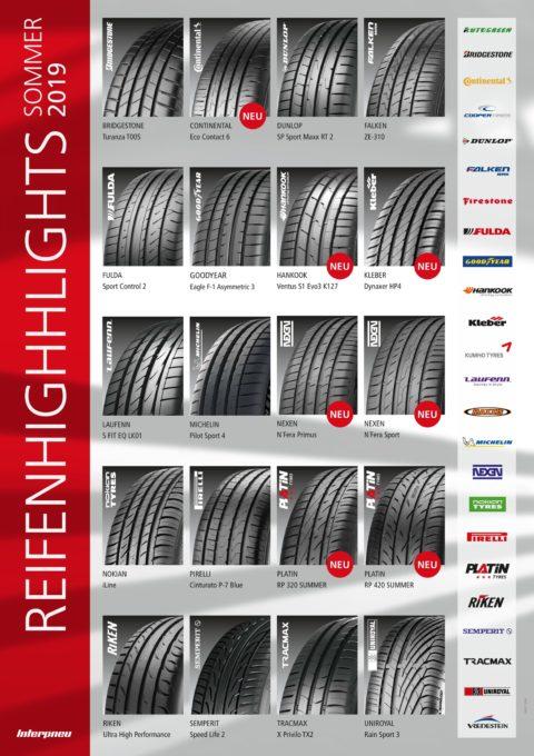 Osvežena ponudba letnih pnevmatik