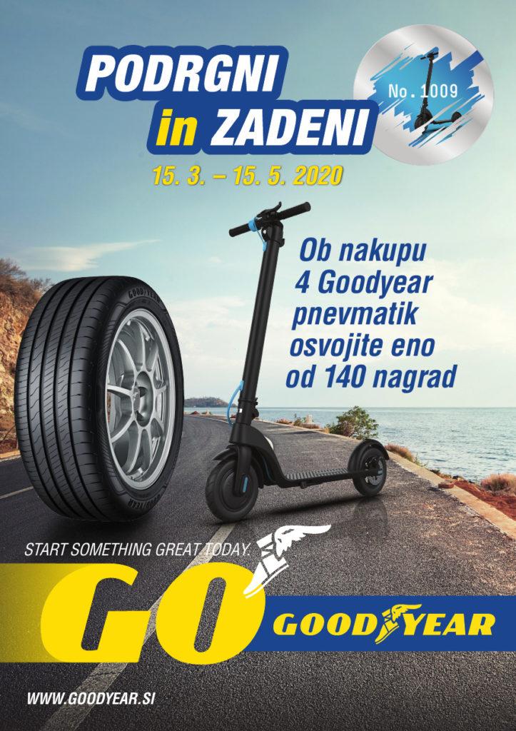 Ob nakupu 4 Goodyear pnevmatik osvojite eno od 140 nagrad